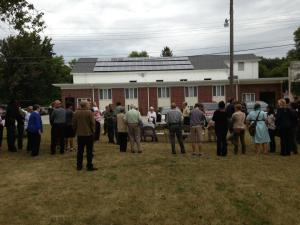 We held a dedication service for our solar panels, installed in the summer of 2013.